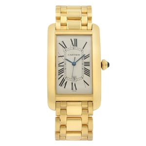 Cartier Tank Americaine Silver Guilloche Automatic Watch