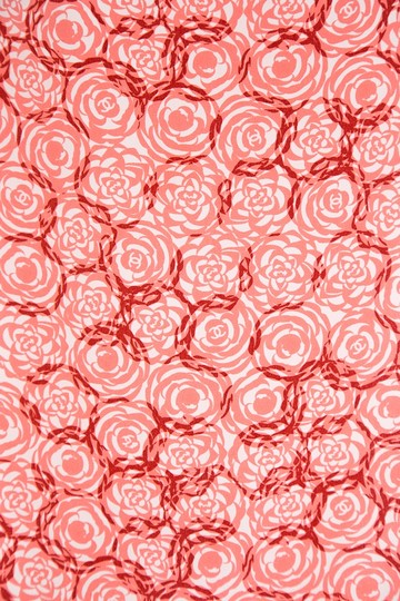 Chanel CHANEL Pink Floral Oblong Silk Scarf Image 1