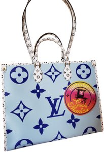 Louis Vuitton Tote in Light Blue/White/Royal Blue/
