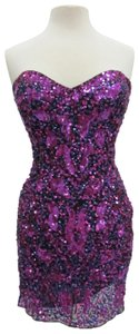 Primavera Couture Short Prom Homecoming Pageant Dress