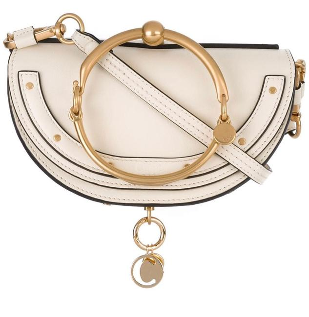 Item - Minaudiere Off White Leather Cross Body Bag