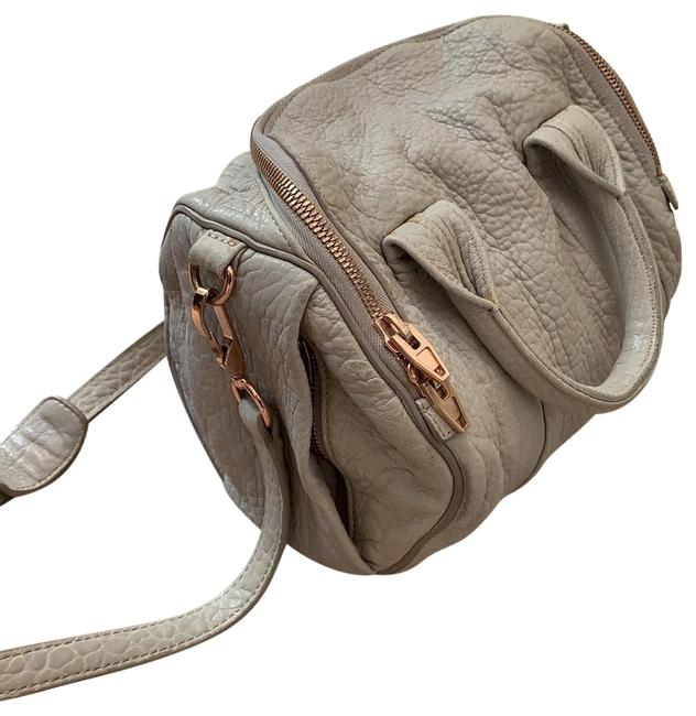 Item - Rockie Grey Rose Gold Lambskin Leather Satchel