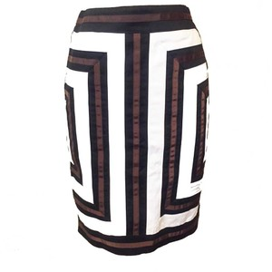 00b7d4f8d White House | Black Market Color-blocking Pencil Cotton Skirt White & Black