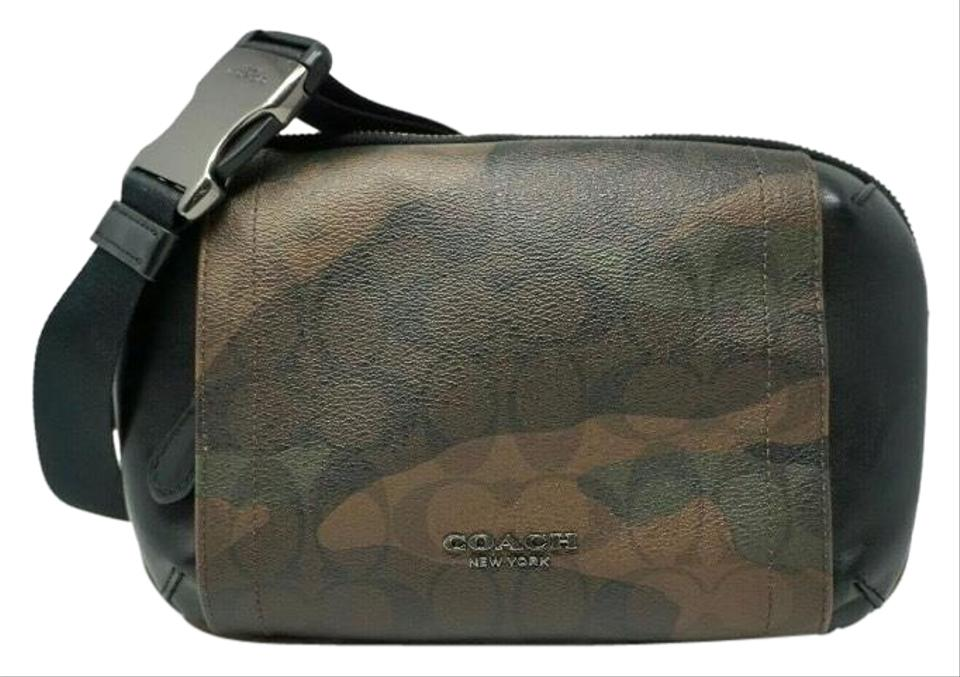 b0f6e7b1 Coach Men's Graham Signature Camo Print Utility Pack Sling/Fanny Multicolor  Canvas Messenger Bag 53% off retail