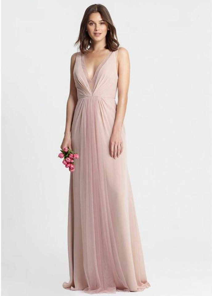 d7b68aed40558 Monique Lhuillier Lilac Tulle and Chiffon Ophelia 450381 Modern Bridesmaid/Mob  Dress Size 10 ...