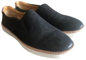 Sperry Gold Cup Slip On Leather Black Flats