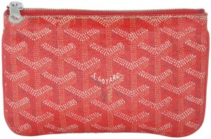 3b00a717f911a Goyard Chevron Print Coated Canvas Senat 2 Mini Zip Pouch