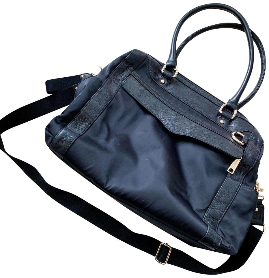 Rebecca Minkoff Knocked Up Black Leather Diaper Bag 62 Off Retail