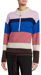 Theory Colorblock Color Block Cashmere Drawstring Sweater