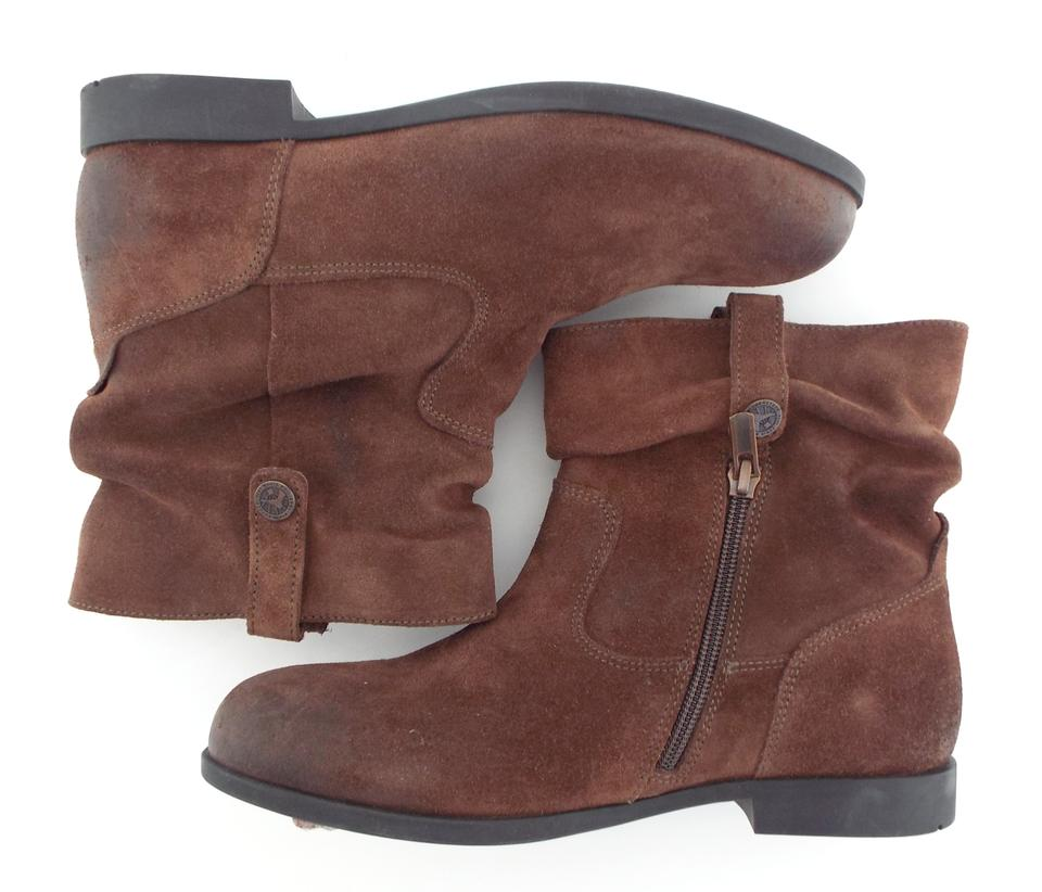 34f6788cf76fb Birkenstock Rust Brown Wax Suede Leather Slouch Ankle 38/7 Boots/Booties  Size EU 38 (Approx. US 8) Regular (M, B)