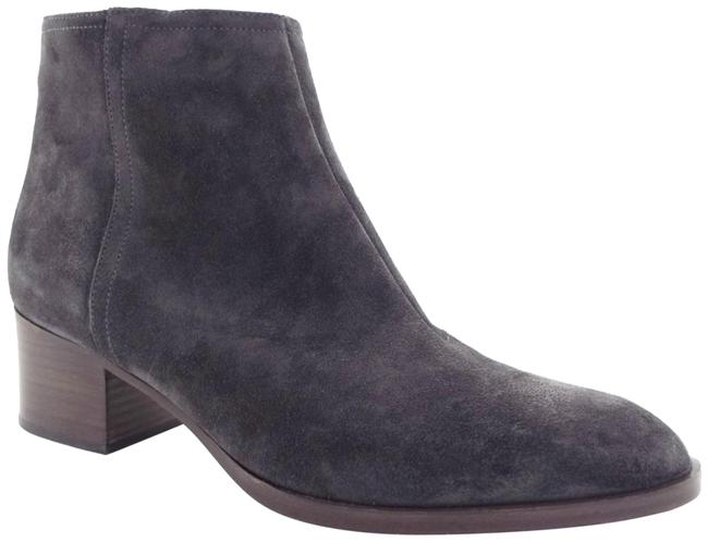 Item - Asphalt Gray Waxed Suede Leather Block-heel Ankle Boots/Booties Size EU 40 (Approx. US 10) Regular (M, B)