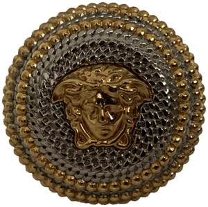 80852c1e7 Versace VERSACE Medusa Logo Gold Silver Two Tone Dome Statement Ring