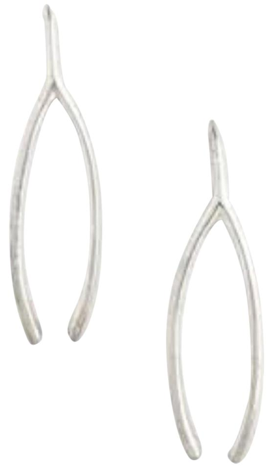 Tory Burch Silver Make A Wish For Wishbone Delicate Earrings 45 Off Retail