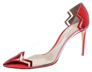 Nicholas Kirkwood Metallic Leather Pointed Toe Red Pumps