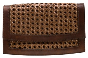 Stella McCartney Leather Faux Leather Woven Clutch