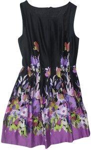 chetta B Artsy A-line Tropical Sundress Retro Dress