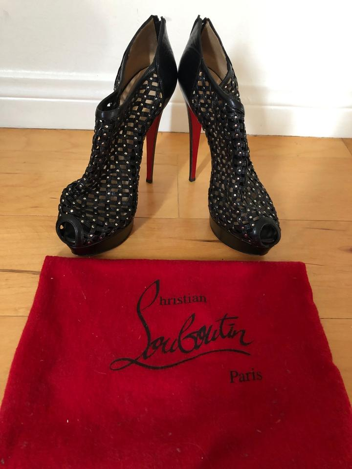 3adcee178d7 Christian Louboutin Black Red Leather Kasha Caged Boots/Booties  Boots/Booties Size US 9.5 Regular (M, B) 83% off retail
