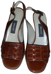 Bally Brown Leather Sandals