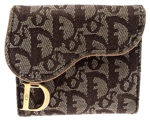 71867a1f77b Dior Beige/Brown Diorissimo Fabric Compact Wallet