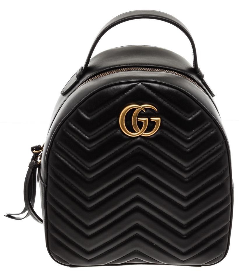 0cb27816 Gucci Marmont Quilted Gg Small Black Leather Backpack