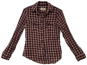 Abercrombie & Fitch Button Down Shirt Burgundy
