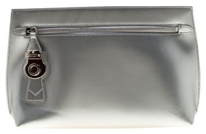 Burberry Patent Leather Silver Clutch