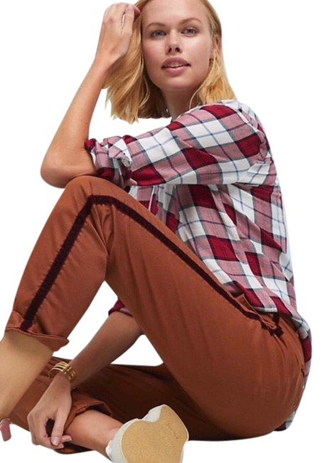 Item - Brown Relaxed Chino Pants Capris Size 0 (XS, 25)