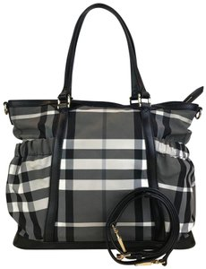 Burberry Check Nylon Black Diaper Bag