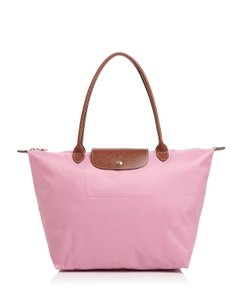 Longchamp Tote in Pink/Gold