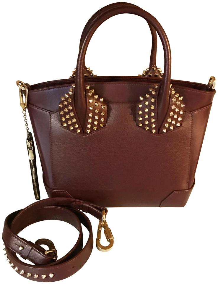 601c48848d7 Christian Louboutin Bag / Eloise Spiked Oxblood / Maroon Calfskin Leather  Tote 36% off retail
