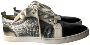 Christian Louboutin gold silver Athletic