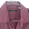 Gucci Burgundy Men's Striped Dress Shirt Groomsman Gift Image 2