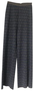 Stefanel Straight Pants blue with silver