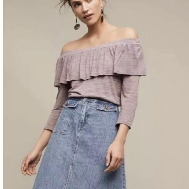 Anthropologie Purple Charla Off Shoulder Blouse Size 8 (M) Anthropologie Purple Charla Off Shoulder Blouse Size 8 (M) Image 1