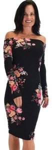 lyss loo Midi Midcalf Floral Bodycon Casual Dress