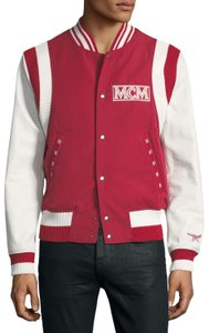 MCM Logo Bomber Coat Motorcycle Jacket