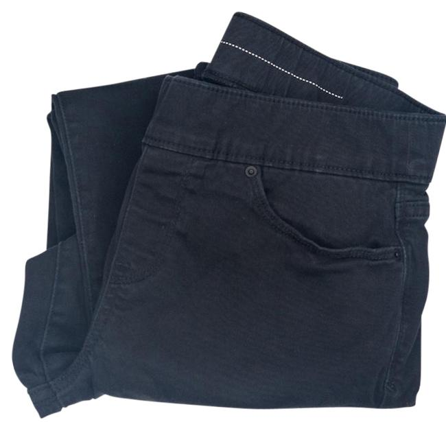 Item - Black Dark Rinse Skinny Pull On Jeggings Size 29 (6, M)