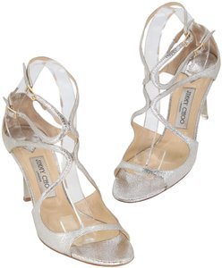 Jimmy Choo Wedding Day Summer Weddings Something Blue Reception Honeymoon Glitter Metallic Champagne Silver Sandals