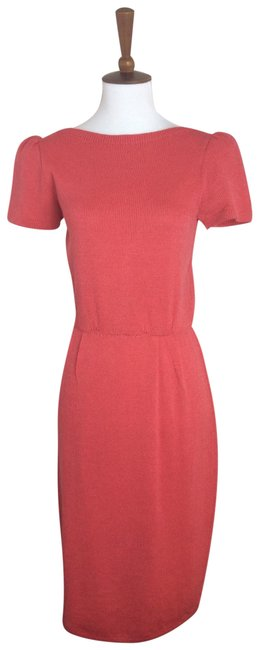 Item - Coral/Orange Santana Knit By Marie Gray Mid-length Work/Office Dress Size 0 (XS)