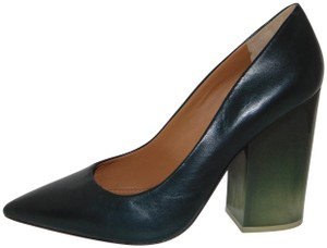 bdf565911a21e Tory Burch Mod Blogger Deep Green Lucite Heel Pumps