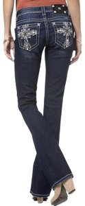 Miss Me Cross Stretchy Bling Boot Cut Jeans