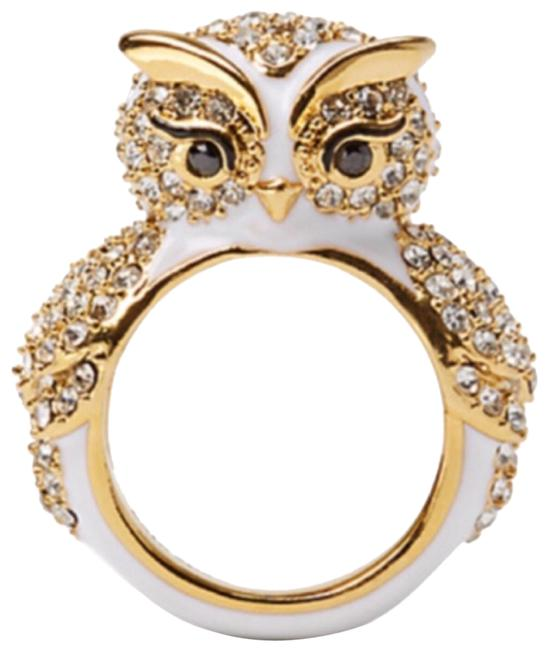 Item - Gold/White Star Bright Owl Ring