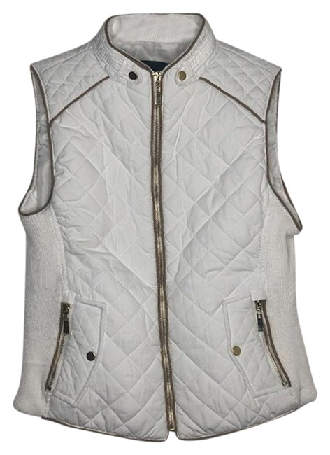 Item - Off White Quilted Vest Size 4 (S)