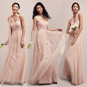 Jenny Yoo Tuscan Beige Tulle Annabelle | Style #1452 Formal Bridesmaid/Mob Dress Size 2 (XS)