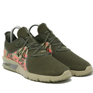 8372e688a1f Nike Green Olive Khaki New Men Air Max Sequent 3 /Cargo /Hot Punch Sneakers  Size US 11 Regular (M, B) 24% off retail