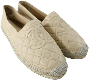 Chanel Espadrilles Nude Espadrilles Quilted Espadrilles Quilted Beige Flats