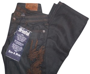 Sinful Flare Leg Jeans-Distressed