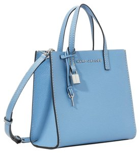 589043548 Marc Jacobs Mini Grind Pebbled Leather Crossbody Saphire Tote in Blue