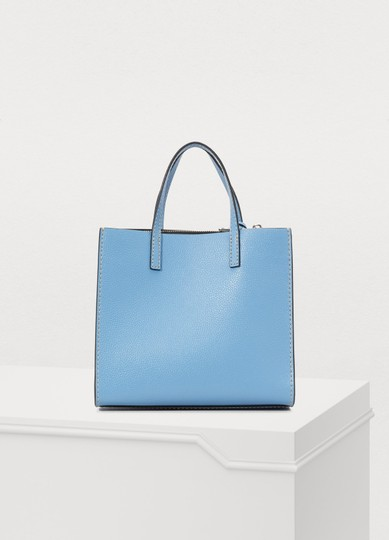Marc Jacobs Mini Grind Pebbled Leather Crossbody Saphire Tote in Blue Image 1