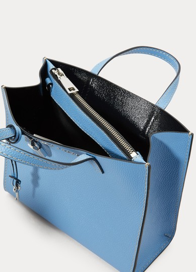 Marc Jacobs Mini Grind Pebbled Leather Crossbody Saphire Tote in Blue Image 2
